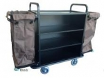 Luxury housekeeping cart in black finish